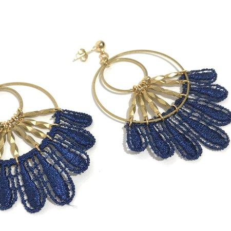 This Ilk Chandu Dangles - Blue