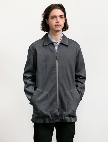 Tres Bien Homme Denim Zip Coat Kuroki - Gray
