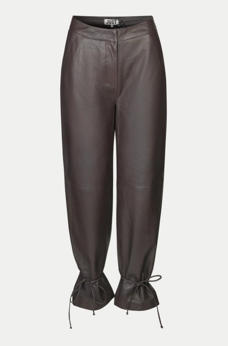 Just Female Fall Leather Trouser