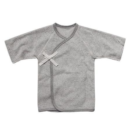 Kids Makié Baby Terry Kimono Cardigan - Grey Stripes
