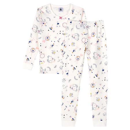 Kids Petit Bateau Lascene Pyjamas - Circus Print Cream