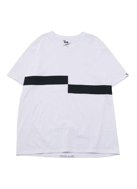 nanamica COOLMAX Graphic S/S Tee - White/Black