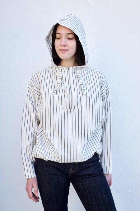 Girls of Dust Army Smock Shirt - Stripe