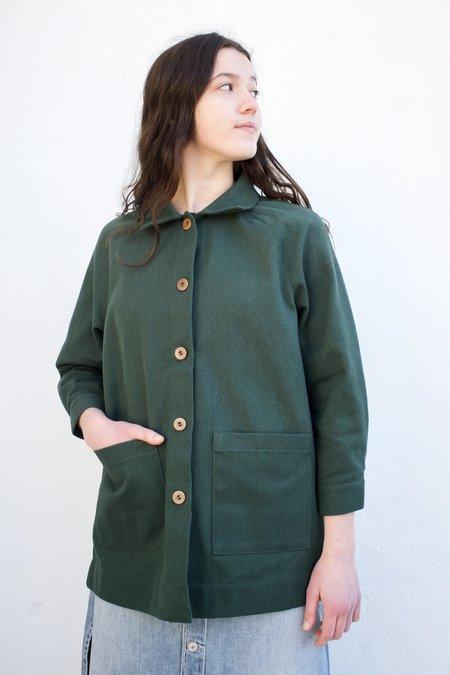 Beaton Linen Chore Coat - Forest