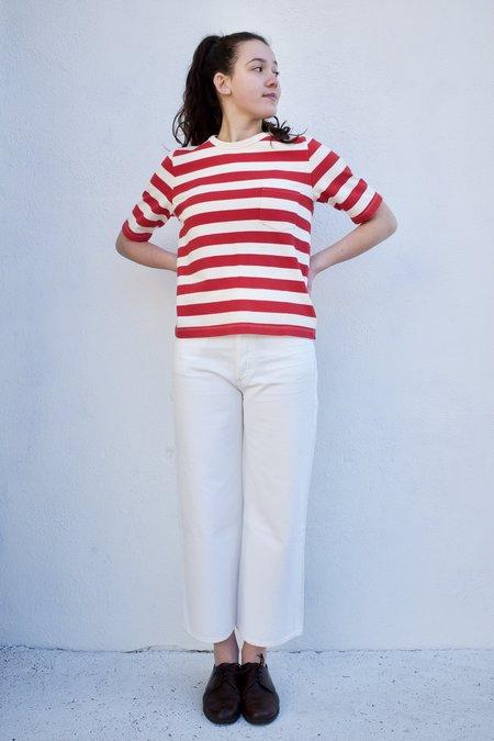Girls of Dust Sailor Short Sleeve top - Red Stripe