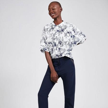 Cotelac Square print blouse - blue print