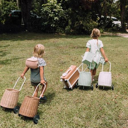 Kids Olli Ella Luggy Basket - Straw