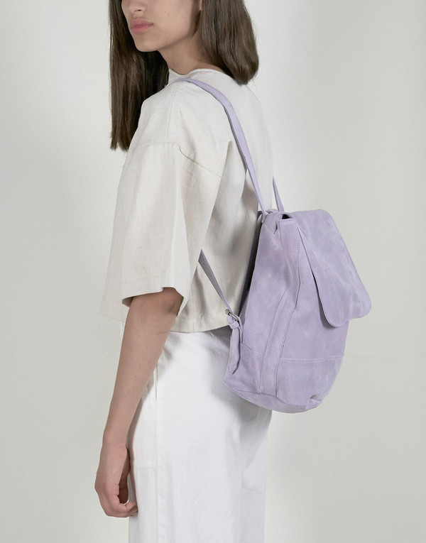 Clyde Room Backpack in Lavender Suede