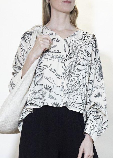 ÁERON Bonwitt Shirt - Bull Print/Cream