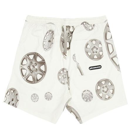 PLEASURES Roadside Twill Shorts - White