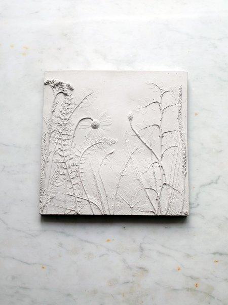 Rachel Dein Wild Rose Concrete Tile - white