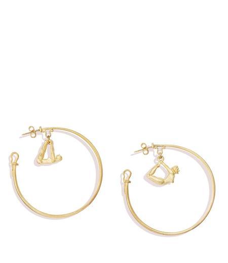 Renato Cipullo 18k  Forma Hoop Earrings - 18k yellow gold