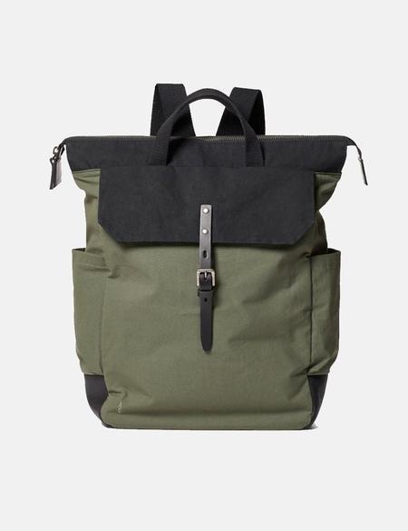 Ally Capellino Fin Hybrid Waxy Rucksack bag - Olive Green