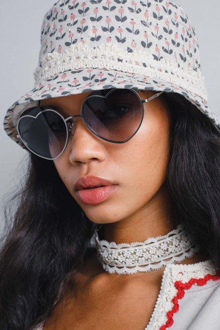 Anna Sui Loveheart Sunglasses - Light Gunmetal