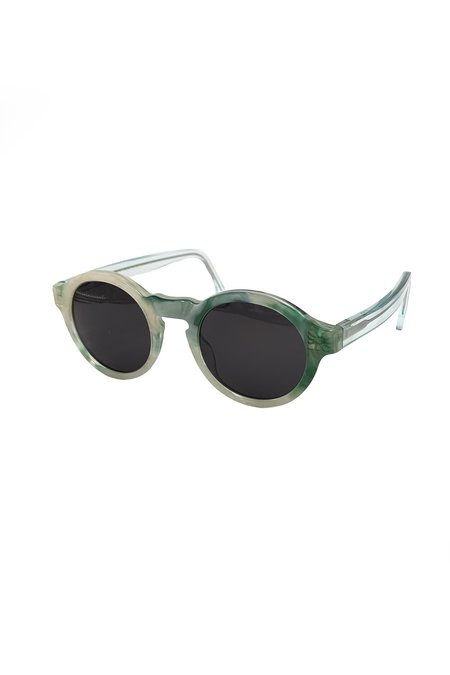 Anna Sui Recycled Acetate Round Sunglasses - Jade Multi