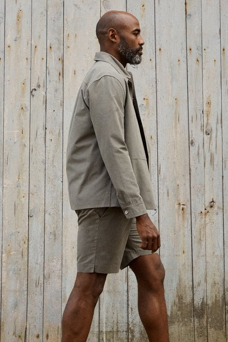 Frisur Jim Tencel Shorts - Dusty Olive
