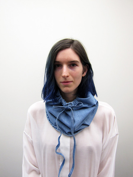 69 Snood Neck Piece, Denim
