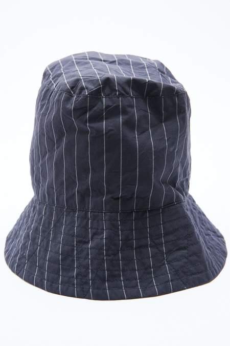 Engineered Garments Nyco Bucket Hat - Dark Navy Gangster Stripe
