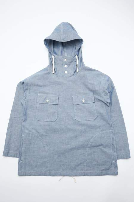 Engineered Garments for Totem Brand Co. Cagoule Cotton Chambray Shirt - Blue