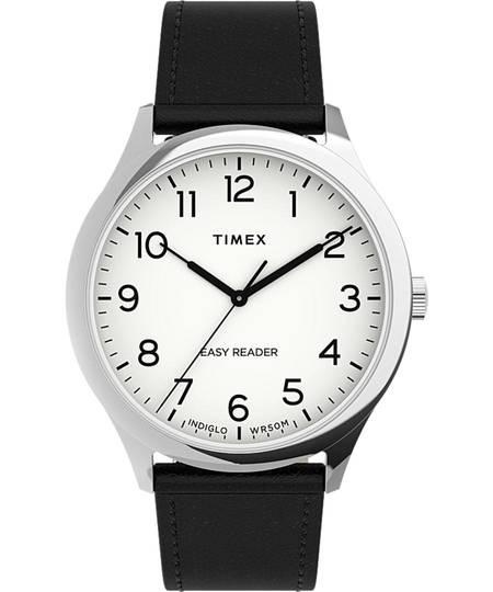 Timex® Easy Reader® Gen1 40mm Leather Strap Watch
