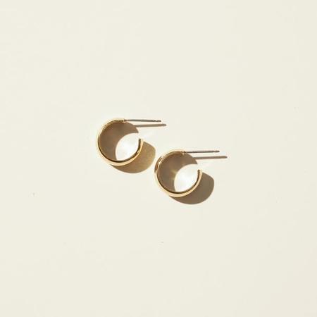 Maslo Jewelry Mini Hoop Earrings - 14K Gold Plate