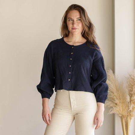 L.F.Markey Fletcher Shirt - Navy