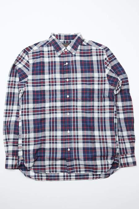 Beams Plus B.D. Madras shirt - NAVY