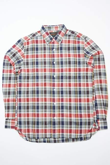 Beams Plus B.D. Madras shirt - RED