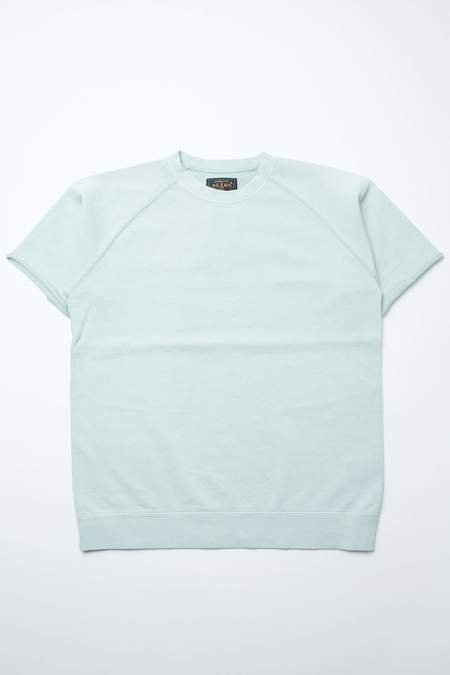 Beams Plus Short Sleeve Sweat Pigment Dye tee - MINT GREEN