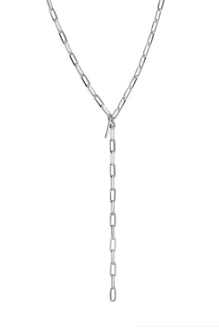 "Lizzie Mandler 30"" Knife Edge Oval Chain - Silver"