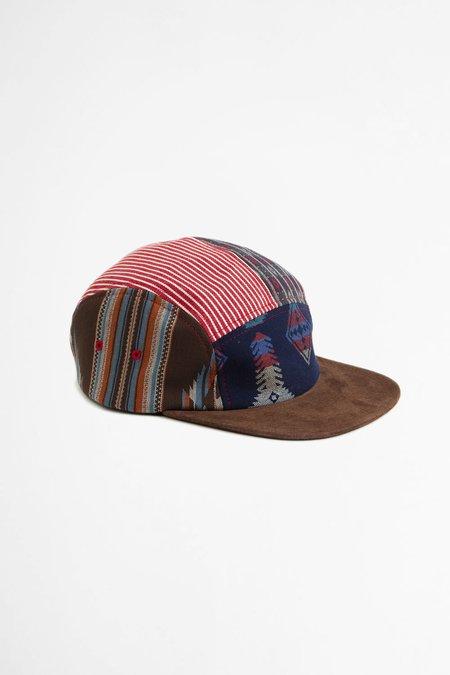 Beams Plus 5 Panel patchwork cap - brown