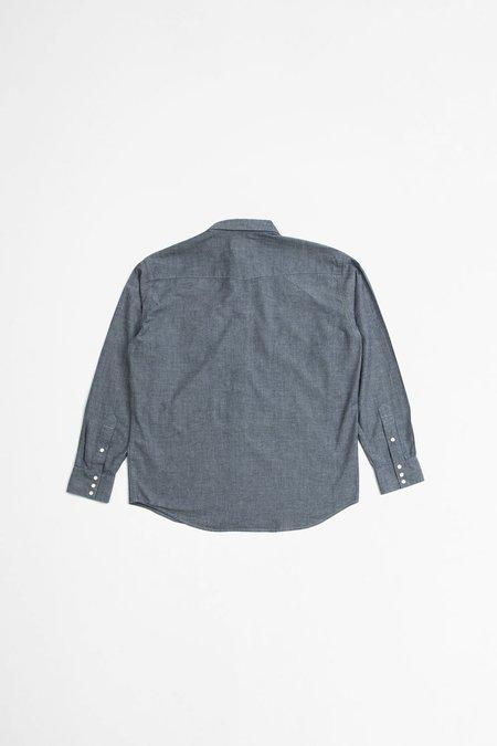 Beams Plus Western chambray shirt - blue