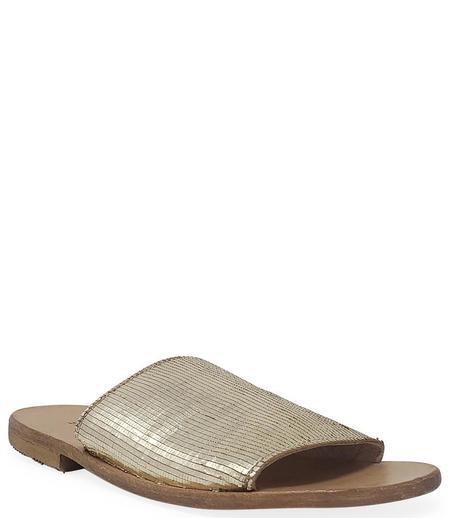 Moma Leather Slip On Loafer - Gold