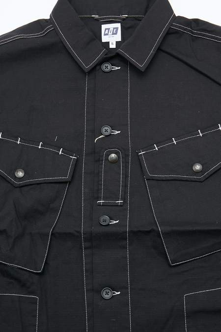 AiE PRS Cotton Ripstop Shirt - Black