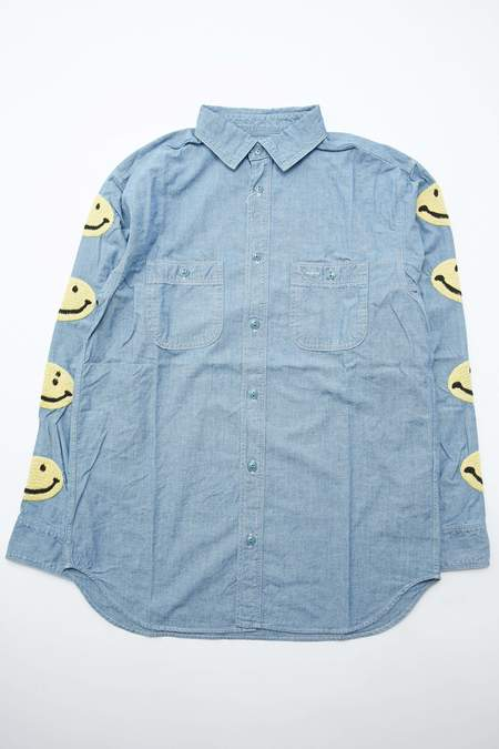 Kapital Smile Kountry Chambray Work Shirt - Sax