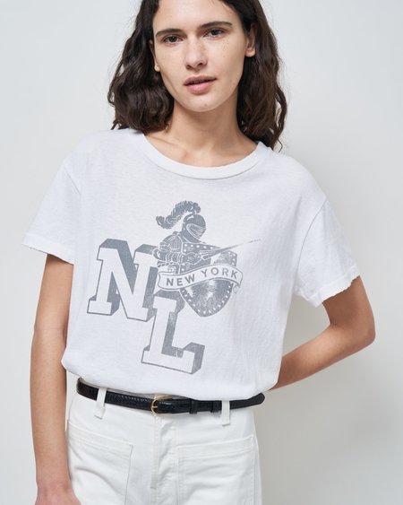 Nili Lotan Printed Brady Tee - Vintage White
