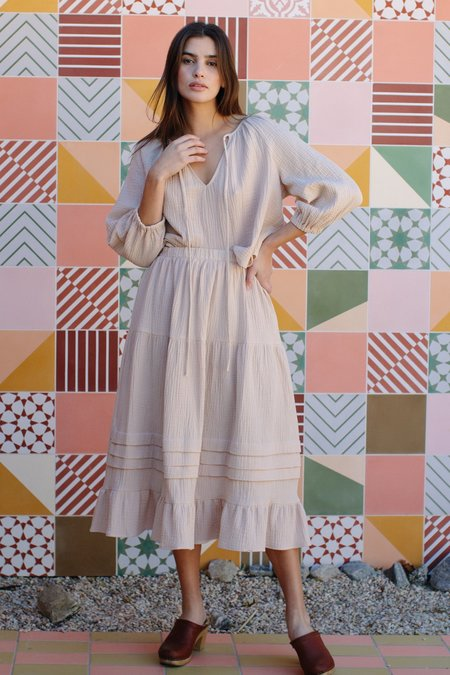Rachel Pally Heather Gauze Skirt - Cashew
