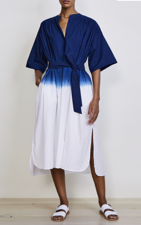 Apiece Apart PALO TUNIC DRESS - CIELO OMBRE