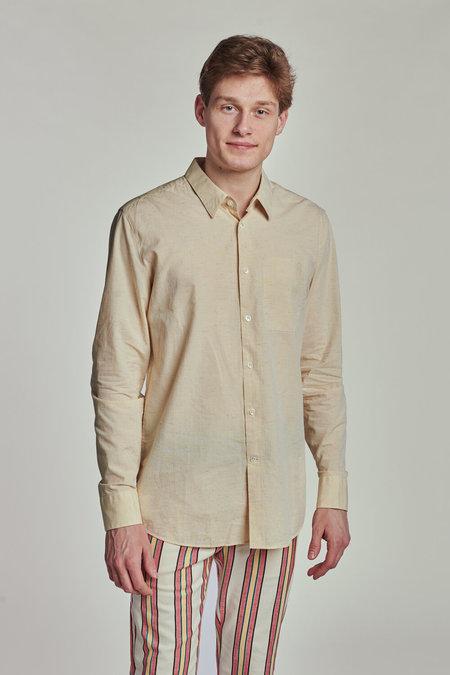 Delikatessen Feel Good Structured Cotton Shirt - Sorbet Yellow