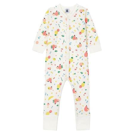 Kids Petit Bateau Baby Modestie Pyjama All Over Fruit Print - Pink