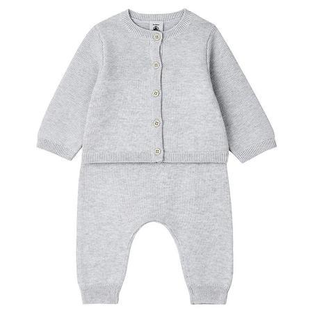 kids Petit Bateau Baby Mountain Two Piece Set - Grey