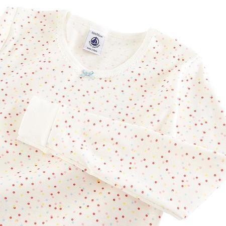 kids Petit Bateau Child Marne Dot Print Pyjamas - Cream
