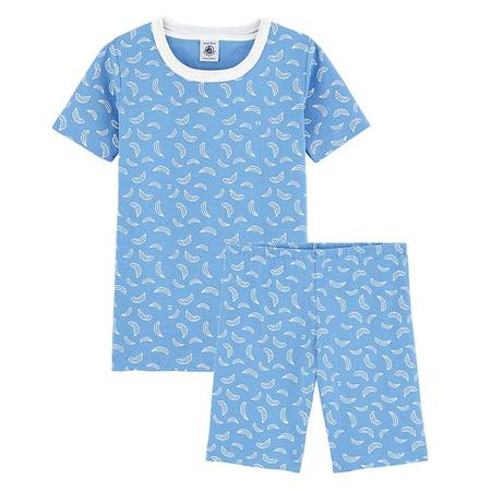 kids Petit Bateau Child Master Banana Print Pyjamas - Blue