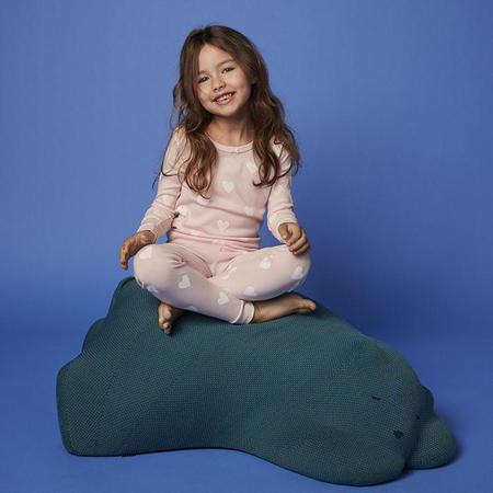 kids Petit Bateau Child My Loving Heart Print Pyjamas - Pink