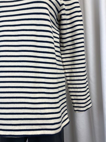 [pre-loved] Eileen Fisher Striped Tee  - Navy/White