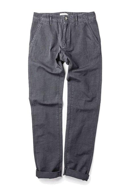 TAYLOR STITCH Slub Linen Morse Pant - Charcoal