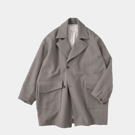 Still By Hand DB Cocoon Coat - Greige