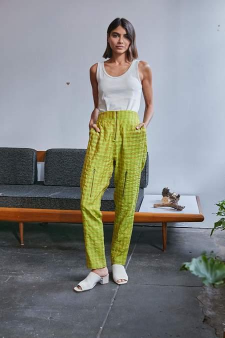 RUJUTA SHETH Cargo Pants - Sunny Day Chex