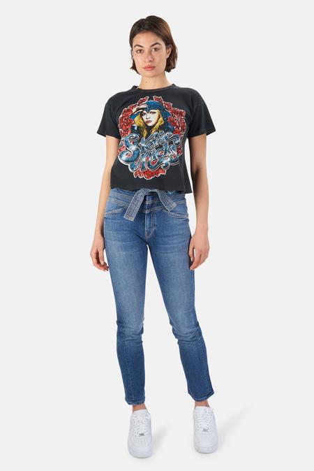 MadeWorn Rock Stevie Nicks Crop T-Shirt - Coal Pigment