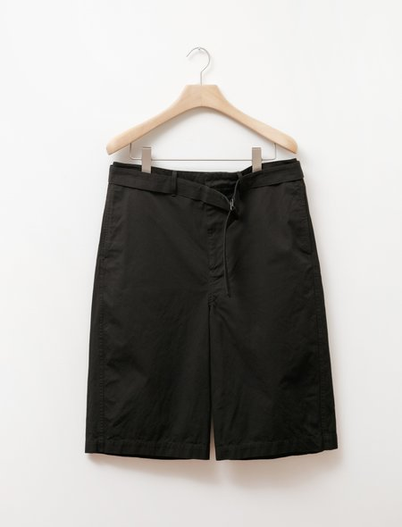 Unisex Lemaire Cotton Belted Shorts - Black